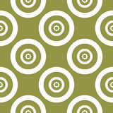 Olive green and white geometric ornament. Seamless pattern. For web, textile and wallpapers Stock Photography