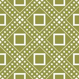 Olive green and white geometric print. Seamless pattern. For web, textile and wallpapers Royalty Free Stock Photography