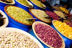 Olive grocery in Casablanca stock photos