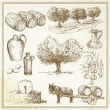 Olive - hand drawn set Royalty Free Stock Photography