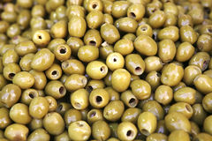 Olive heap on open market Royalty Free Stock Photos