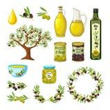 Olive Icon Set Royalty Free Stock Image