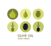 Olive. Icon set Royalty Free Stock Photography