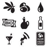 Olive Icons Stockbilder