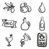 Olive Icons Freehand Photos libres de droits