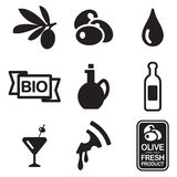 Olive Icons Stock Images