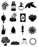 Olive icons set Stock Image