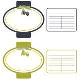 Olive Label Stock Image