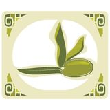 Olive Label Royalty Free Stock Photography