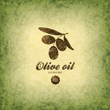 Olive label, logo design Stock Photos