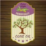 Olive Label On Wood libre illustration