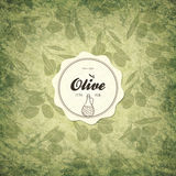 Olive labels design Royalty Free Stock Photography