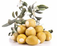 olive and leaf Royalty Free Stock Image