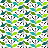 Olive Leaves Seamless Background. Olive leaves with blooms background. Seamless tile vector illustration