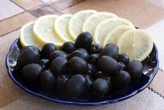 Olive with lemon Stock Photo