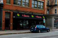 Olive, Main Street du nord, Providence, RI Images libres de droits