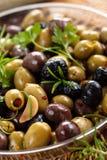 Olive marinate Fotografie Stock