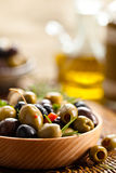 Olive marinate Fotografia Stock Libera da Diritti