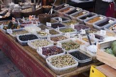 Olive Market dans Sarlat Image stock
