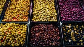 Olive Market que sorprende Imagen de archivo libre de regalías