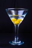 3 Olive Martini Imagen de archivo libre de regalías