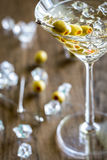 Olive martini cocktail royalty free stock photo