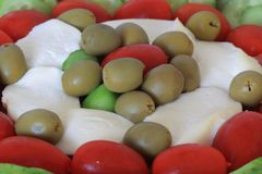 Olive and Mozzarella salad Royalty Free Stock Photography