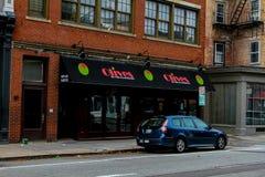Olive, Nord-Main Street s, Providence, RI Lizenzfreie Stockbilder