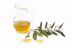 Olive Oil. Food & Drinks - Ingredients. Cup with italian olive oil Stock Photo