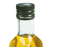 Olive oil. A bottle with olive oil isolated on the white Royalty Free Stock Image