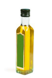 Olive oil. A bottle with olive oil isolated on the white Stock Image
