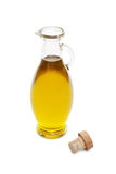 Olive oil. A bottle of olive oil on white bakground Royalty Free Stock Images