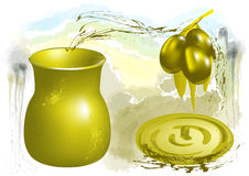 Olive and oil Stock Photos