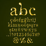 Olive oil alphabet lower case Royalty Free Stock Image