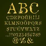 Olive oil alphabet upper case Stock Photo