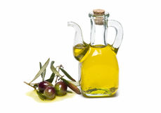 Olive Oil And Fresh Olives Stock Images