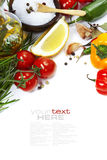 Olive Oil And Ingredients Royalty Free Stock Photography
