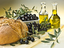 Free Olive Oil And Olives Stock Photography - 22212702