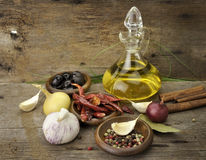 Free Olive Oil And Spices Royalty Free Stock Image - 22015426