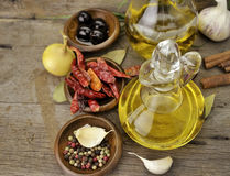 Free Olive Oil And Spices Stock Photography - 22015442