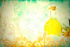 Olive oil antique background Royalty Free Stock Photos