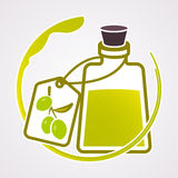 Olive oil. Background. Mediterranean food Royalty Free Stock Image