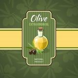 Olive Oil Badge Photo libre de droits