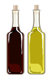 Olive oil and balsamic vinegar Stock Images