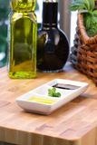 Olive oil and balsamic vinegar Stock Photography