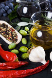 Olive oil and balsamic vinegar Royalty Free Stock Image