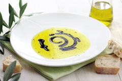 Olive Oil, Balsamic Vinegar and Bread Royalty Free Stock Image
