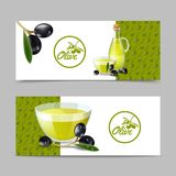 Olive Oil Banner Set Image stock