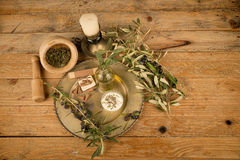 Olive oil based body care Stock Image