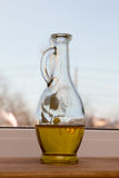 Olive oil in a beautiful bottle Stock Photography